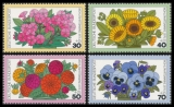 FRG MiNo. 904-907 set ** Welfare 1976: Garden flowers, MNH
