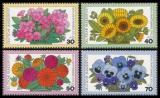 FRG MiNo. 904-907 set ** Welfare 1976: Garden flowers, MNH