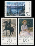 FRG MiNo. 986-988 set ** German Impressionism, MNH