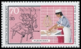 FRG MiNo. 1317 ** Youth 1987: Handworkers - butcher, MNH