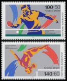 FRG MiNo. 1408-1409 set ** Sports Aid 1989, MNH
