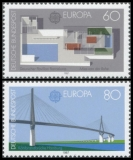 FRG MiNo. 1321-1322 set ** C.E.P.T.- Modern architecture, MNH