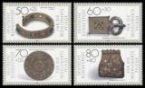 FRG MiNo. 1333-1336 set ** Welfare 1987: Gold- and silver, MNH