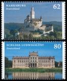 FRG MiNo. 3122-3123 set ** Castles (VI), MNH, wet-adhesive