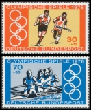 FRG MiNo. 888-889 set ** Summer Olympics 1976, Montreal, MNH, from sheetlet 12