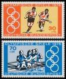 FRG MiNo. 888-889 set ** Summer Olympics 1976, Montreal, MNH, from sheetlet 12
