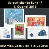 FRG MiNo. 3186-3198 ** Self-adhesives Germany Q4 2015, MNH