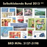 FRG MiNo. 3127-3198 ** Self-adhesives Germany year 2015, MNH