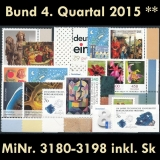 FRG MiNo. 3180-3198 ** New issues 4th Quarter 2015, MNH, incl. self-adhesives