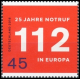 FRG MiNo. 3212 ** 25 years European emergency number 112, MNH