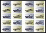 FRG MiNo. FB 53 (3213-3214) ** Classic German Cars, Sheet, self-adhesive, MNH