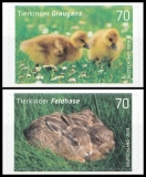 FRG MiNo. 3222-3223 set ** Hare and greylag, MNH, self-adhesive