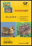 FRG MiNr. FB 55 (3222-3223) ** Hare and greylag, foil sheet, self-adhesive, MNH
