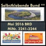 FRG MiNo. 3241-3244 ** Self adhesives Germany may 2016, MNH