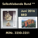 FRG MiNo. 3250-3251 ** Self adhesives Germany june 2016, MNH