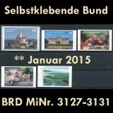 BRD MiNr. 3127-3131 ** Selbstklebende Bund Januar 2015, postfr., aus MB/MS