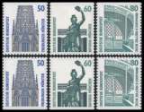 FRG MiNo. 1340C-1342D set ** Objects worth seeing (I), C+D values, MNH