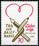 FRG MiNo. 3259-3262+block 81 ** New issues Germany sept. 2016, incl. single stamps block