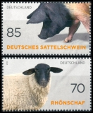 BRD MiNr. 3261-3262 Satz ** Alte & gefährdete Nutztierrassen, aus Bl.81, postfr.