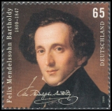 FRG MiNo. 2720 ** 200th Anniversary of Felix Mendelssohn Bartholdy, MNH
