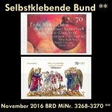 FRG MiNo. 3268-3270 ** Self adhesives Germany november 2016, MNH