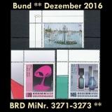 FRG MiNo. 3271-3273 ** New issues Germany december 2016, MNH