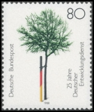 FRG MiNo. 1373 ** 25 years German Development Service, MNH