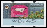 FRG MiNr. ATM 9 set 45-450 Euro cent ** Frama labels: Receive letters, MNH