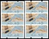 FRG MiNr. ATM 8 set 45-450 Euro cent ** Frama labels: Write letters, MNH