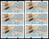 BRD MiNr. ATM 8 Satz 45-450 Cent ** Automatenmarken: Briefe schreiben, postfr.