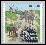 FRG MiNo. 3287 ** Welfare 2017: Bremen Town Musicians, MNH, self-adhesive