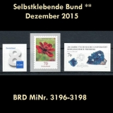 FRG MiNo. 3196-3198 ** Self adhesives Germany December 2015, MNH