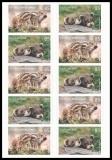 FRG MiNo. FB 64 (3293-3294) ** Iltis & Wild Boar, foil sheet, self-adhesive, MNH