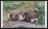 FRG MiNo. 3288-3289 set ** Series Animal children: Iltis & wild boar, MNH