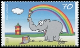 FRG MiNo. 3292 ** Otto Waalkes: Colorful greeting from the Ottifant, MNH