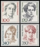 FRG MiNo. 1390-1393 set ** Women in German History (VI), MNH