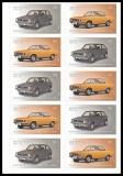 FRG MiNo. FB 66 (3301-3302) ** Classic German Cars, foil sheet, self-adh., MNH