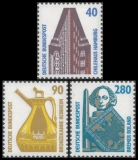 FRG MiNo. 1379-1381 set ** Objects worth seeing (IV), MNH