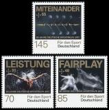 FRG MiNo. 3307-3309 set ** Sports Aid 2017: 50 Years of German Sports Aid, MNH