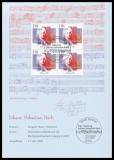 FRG MiNo. 2126 Commemorative sheet 250th anniversary J. Seb. Bach, block of four