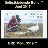 BRD MiNr. 3319 ** Selbstklebende Bund Juni 2017, postfrisch