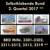 FRG MiNo. 3301-3319 ** Self-adhesives Germany Q2 2017, MNH