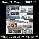 FRG MiNo. 3296-3319 ** New issues 2nd Quarter 2017, MNH, incl. self-adhesives