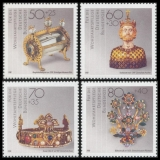 FRG MiNo. 1383-1386 set ** Welfare 1988: Gold and Silversmithing, MNH