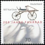 FRG MiNo. 3320 ** 200 years of bicycle - 1817 Karl Drais, MNH