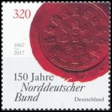 FRG MiNo. 3321 ** 150 years of the North German Confederation, MNH