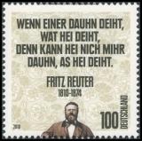 FRG MiNo. 2832 ** 200th birthday of Fritz Reuter, MNH