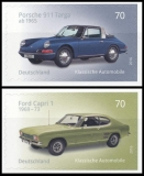 FRG MiNo. 3213-3214 set ** Classic German Cars, MNH, self-adhesive