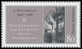 FRG MiNo. 1389 ** 50th anniversary of the Kristallnacht, MNH