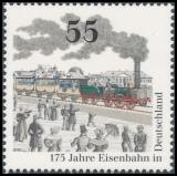 FRG MiNo. 2833 ** 175th Year of Railways in Germany, MNH